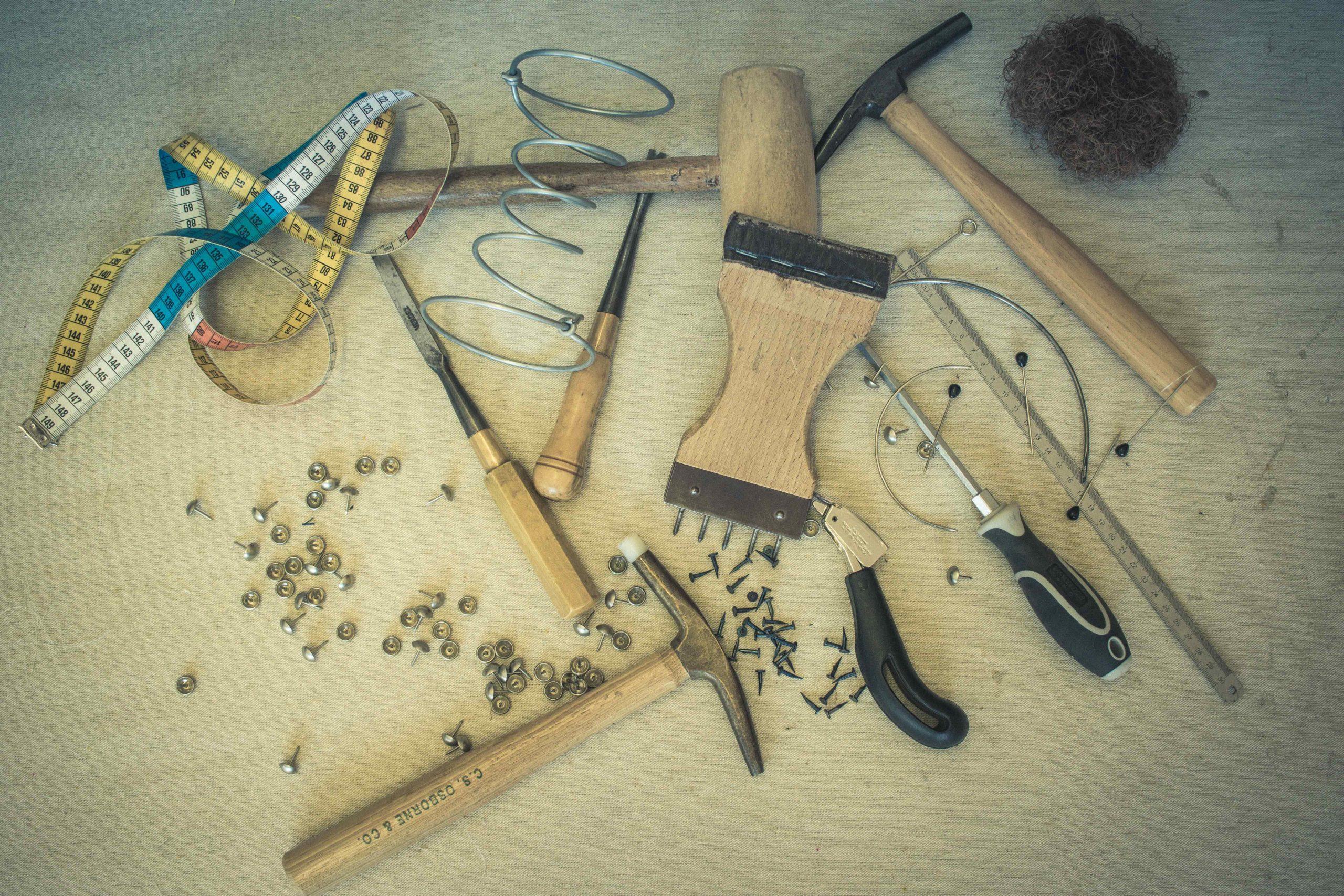 outils de l'atelier de julie